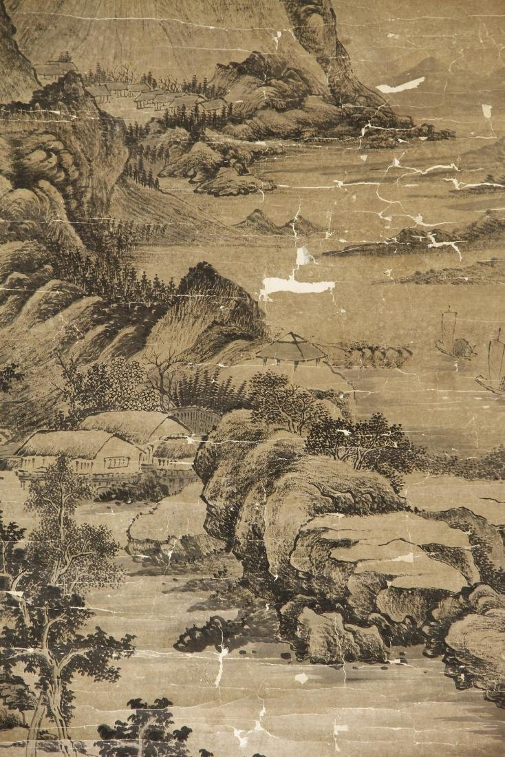 Large Chinese Classic Landscape Hanging Scroll - 2