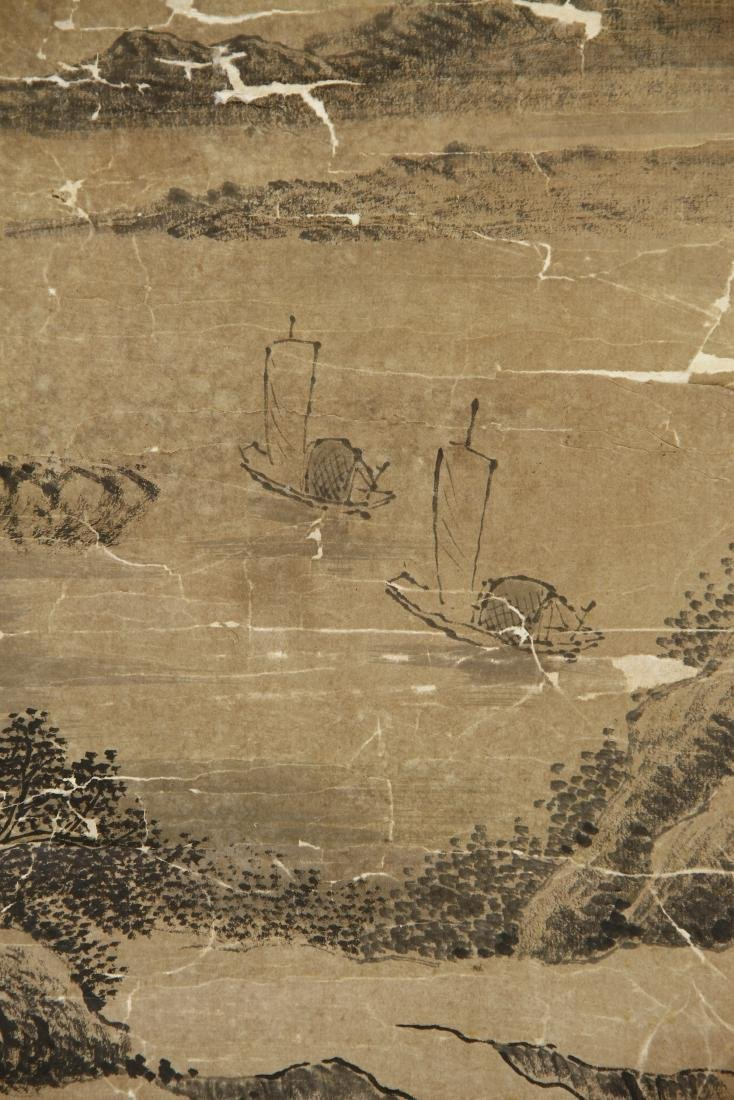 Large Chinese Classic Landscape Hanging Scroll - 4