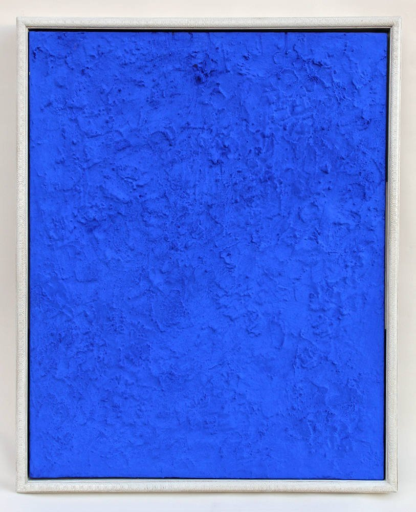 Yves Klein Painting on Wood Board