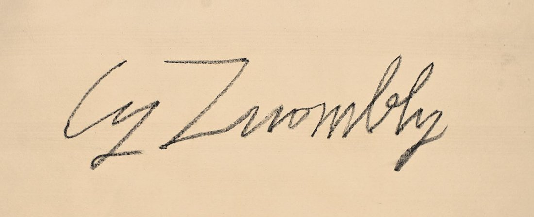 CY TWOMBLY / SIGNED PAINTING ACRYLIC ON CANVAS - 7