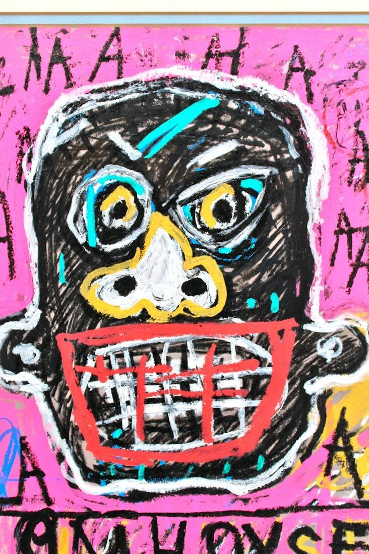 JEAN MICHEL BASQUIAT DRAWING PAINTING - 3