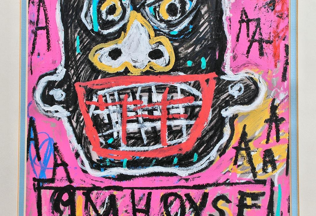 JEAN MICHEL BASQUIAT DRAWING PAINTING - 4