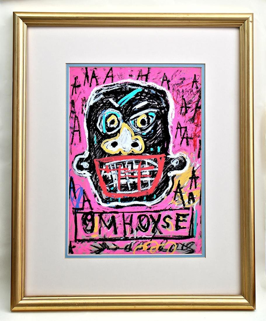 JEAN MICHEL BASQUIAT DRAWING PAINTING - 7