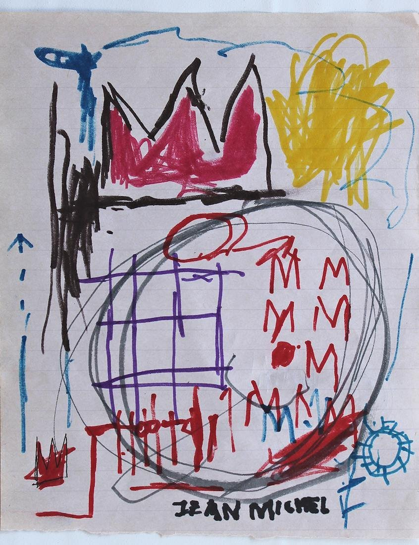 JEAN-MICHEL BASQUIAT  DRAWING PAINTING