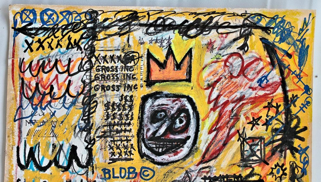 JEAN-MICHEL BASQUIAT  DRAWING PAINTING - 2