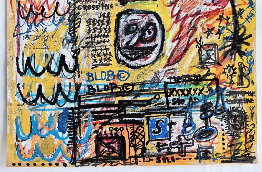 JEAN-MICHEL BASQUIAT  DRAWING PAINTING - 3