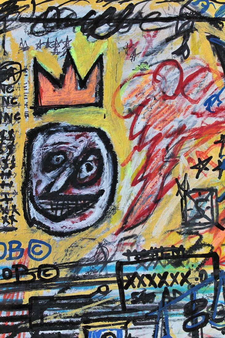 JEAN-MICHEL BASQUIAT  DRAWING PAINTING - 4