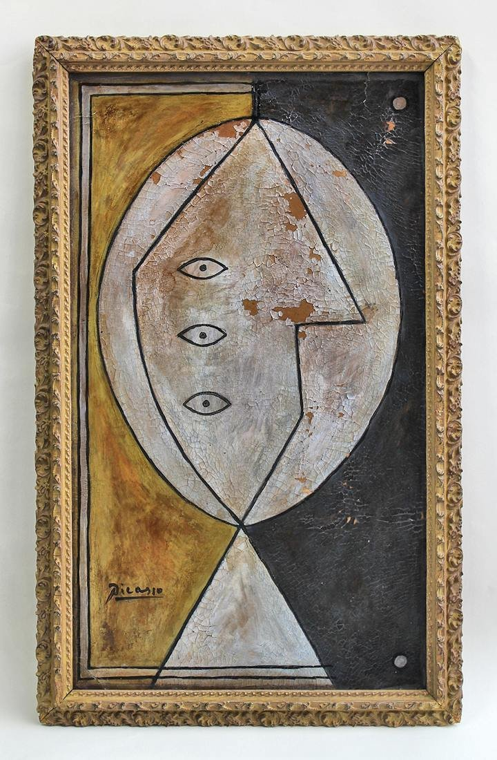 Pablo Picasso (1928-2011) Original Painting on Board NR