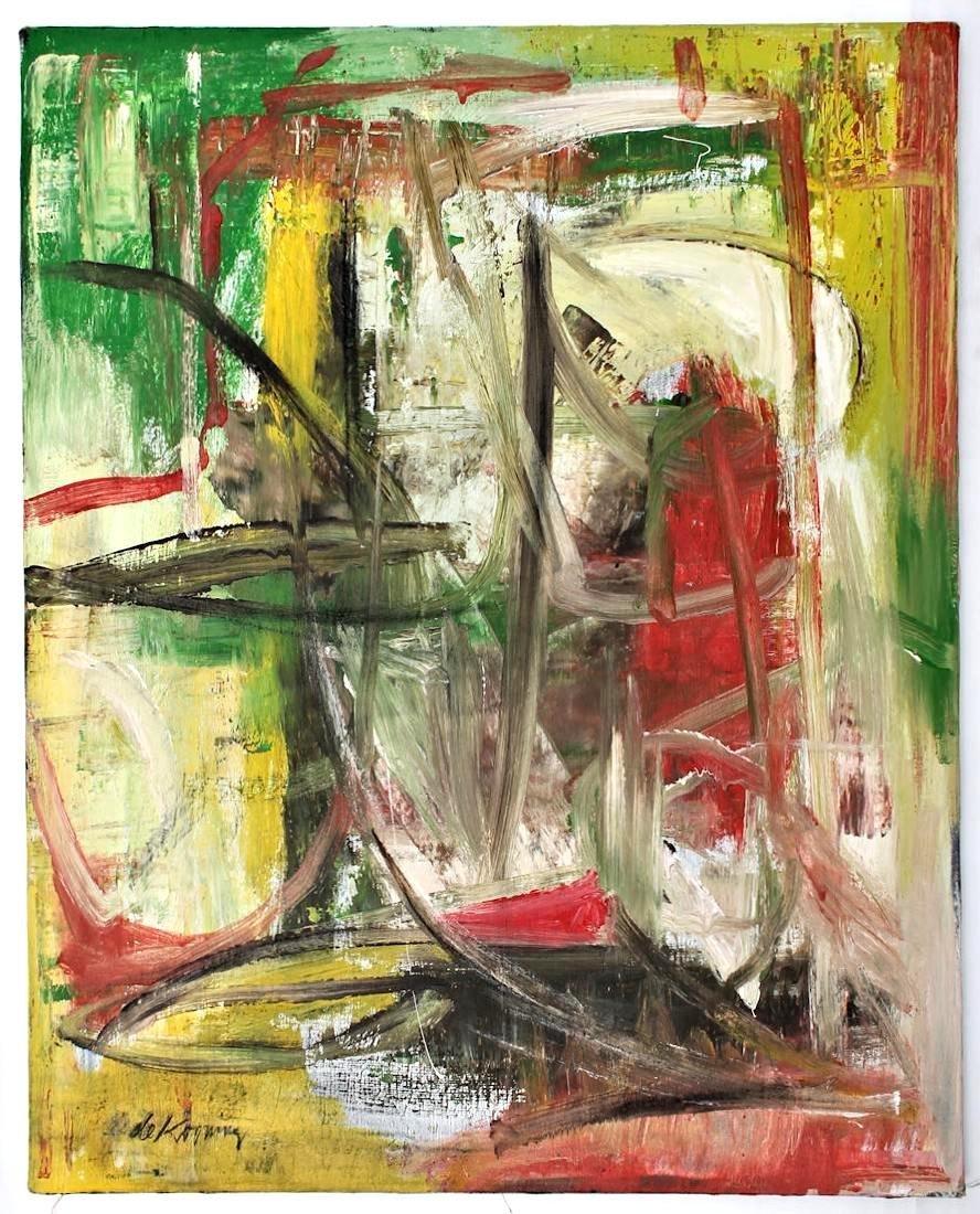 Willem De Kooning (1960-1988) Original Painting NR - 6