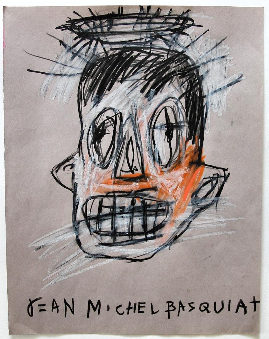 Jean Michel Basquiat (1960-1988) Original Drawing NR