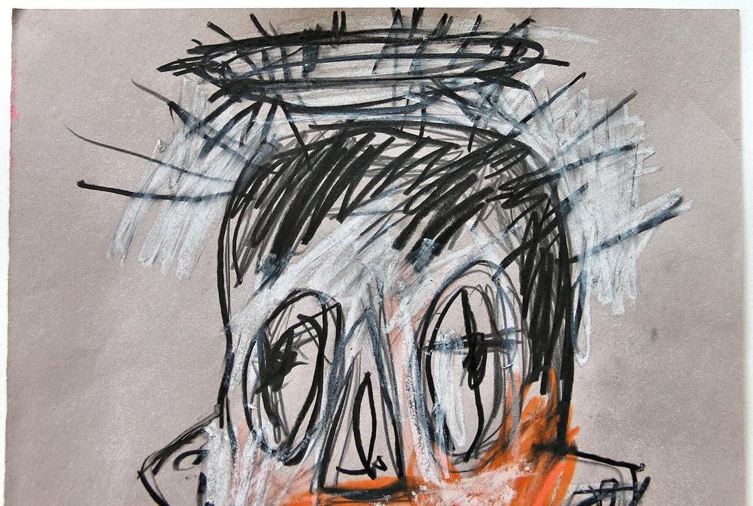 Jean Michel Basquiat (1960-1988) Original Drawing NR - 2