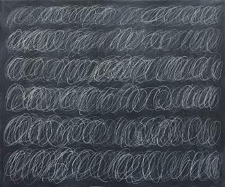 Cy Twombly (1928-2011) Original Painting on Canvas NR