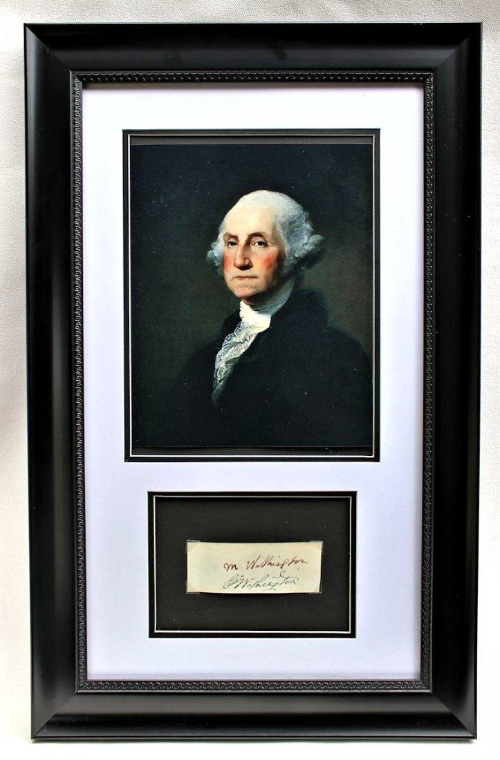 President George Washington Martha Autograph Signature