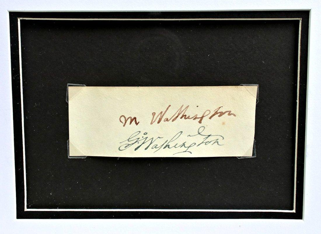 President George Washington Martha Autograph Signature - 3