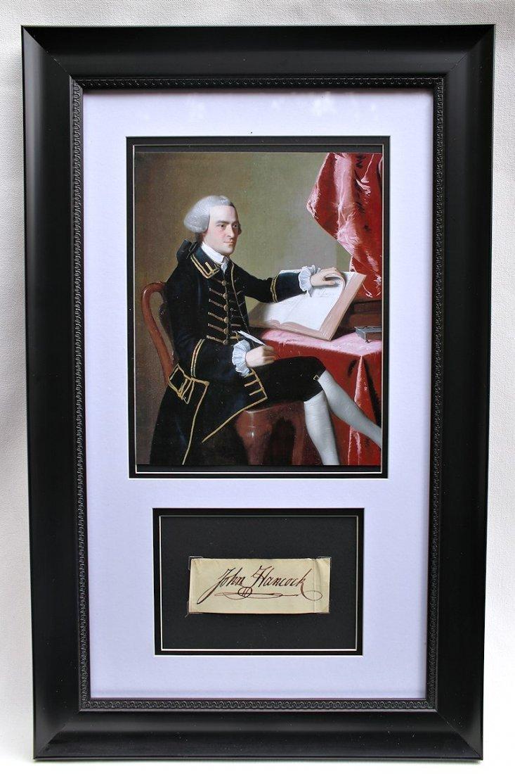 Congress President John Hancock Autograph Signature