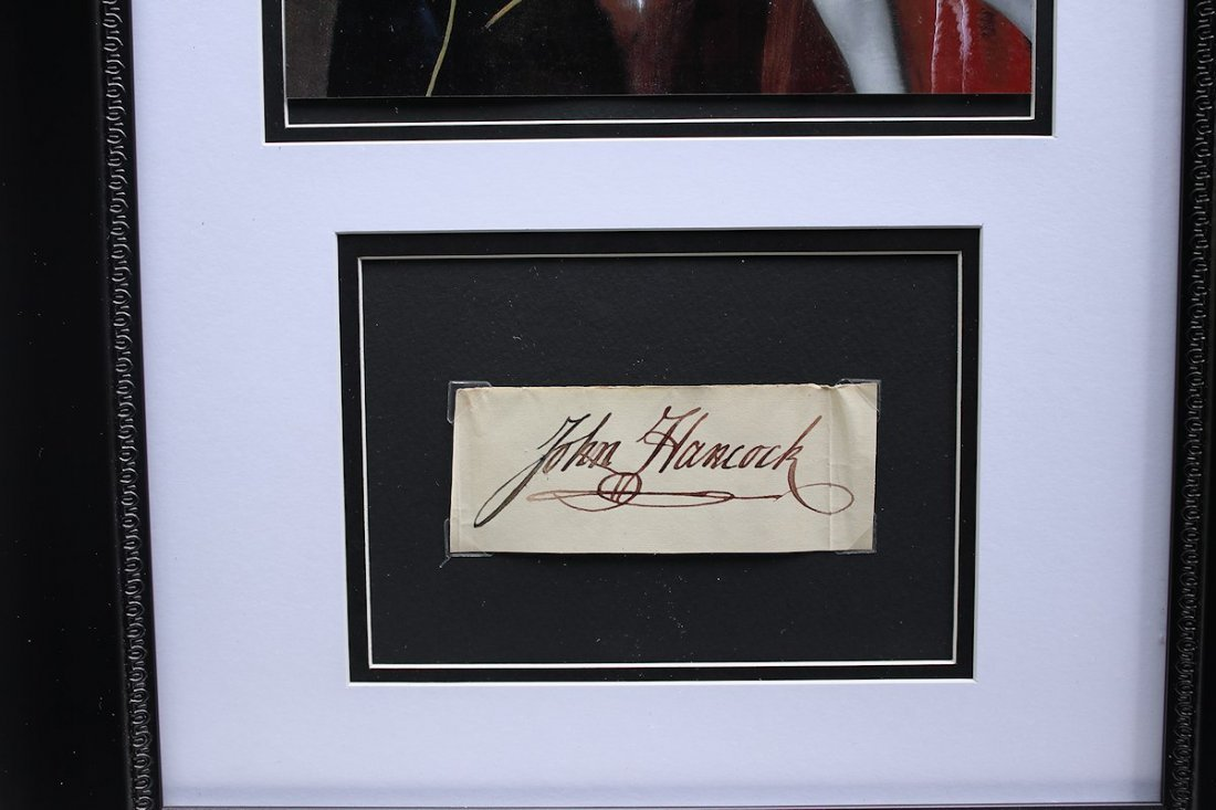 Congress President John Hancock Autograph Signature - 2