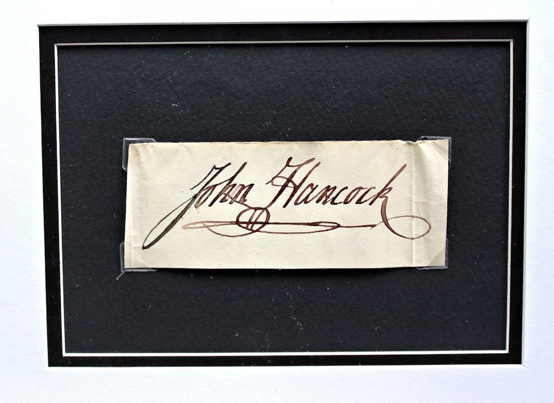 Congress President John Hancock Autograph Signature - 4