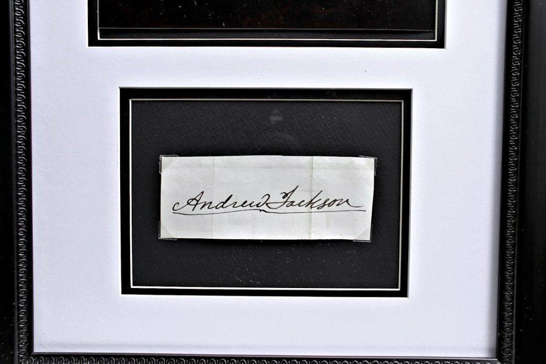 President Andrew Jackson Autograph Signature - 2