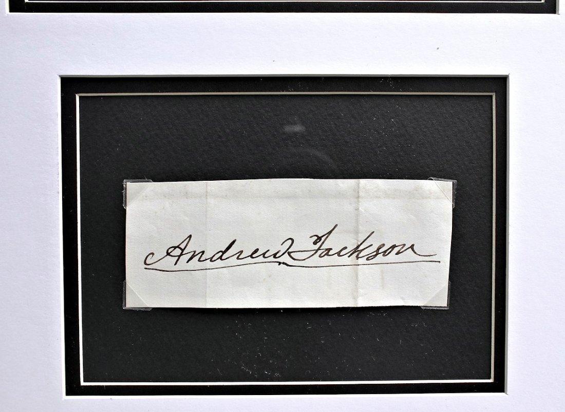 President Andrew Jackson Autograph Signature - 3