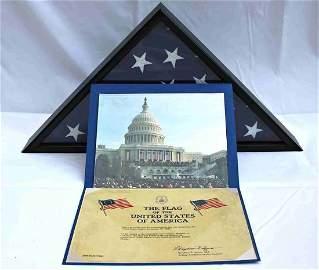 COA President Obama 1st Inauguration Flag  8x12