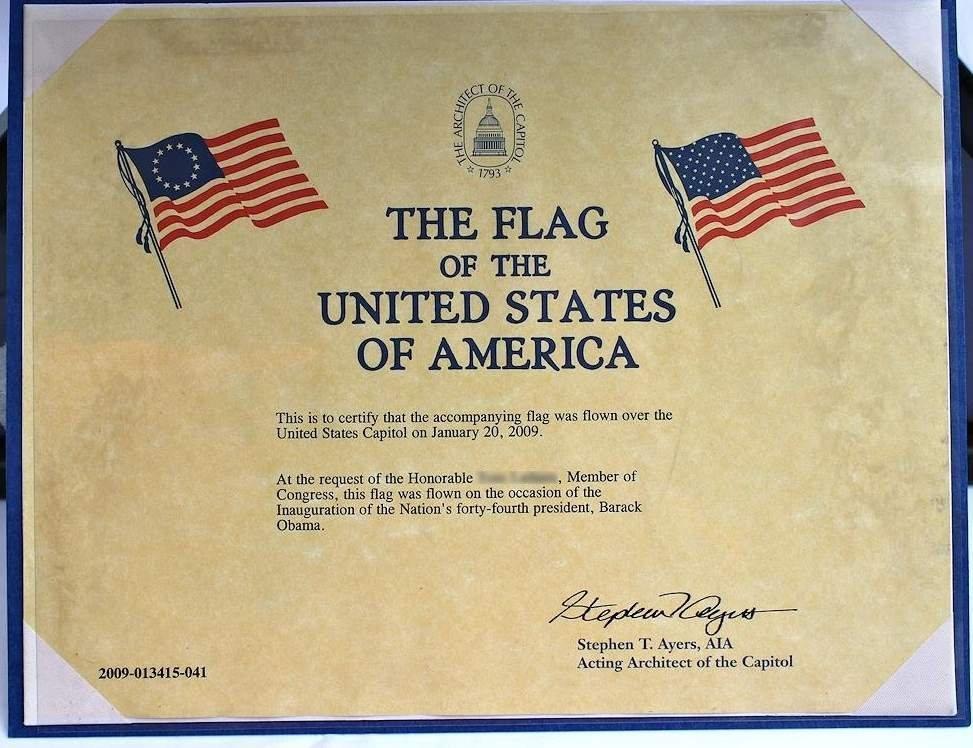 COA President Obama 1st Inauguration Flag  8x12 - 2