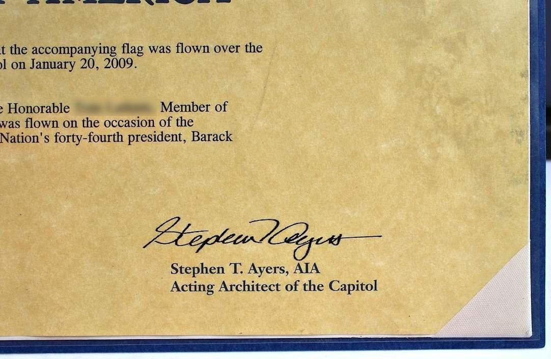 COA President Obama 1st Inauguration Flag  8x12 - 3