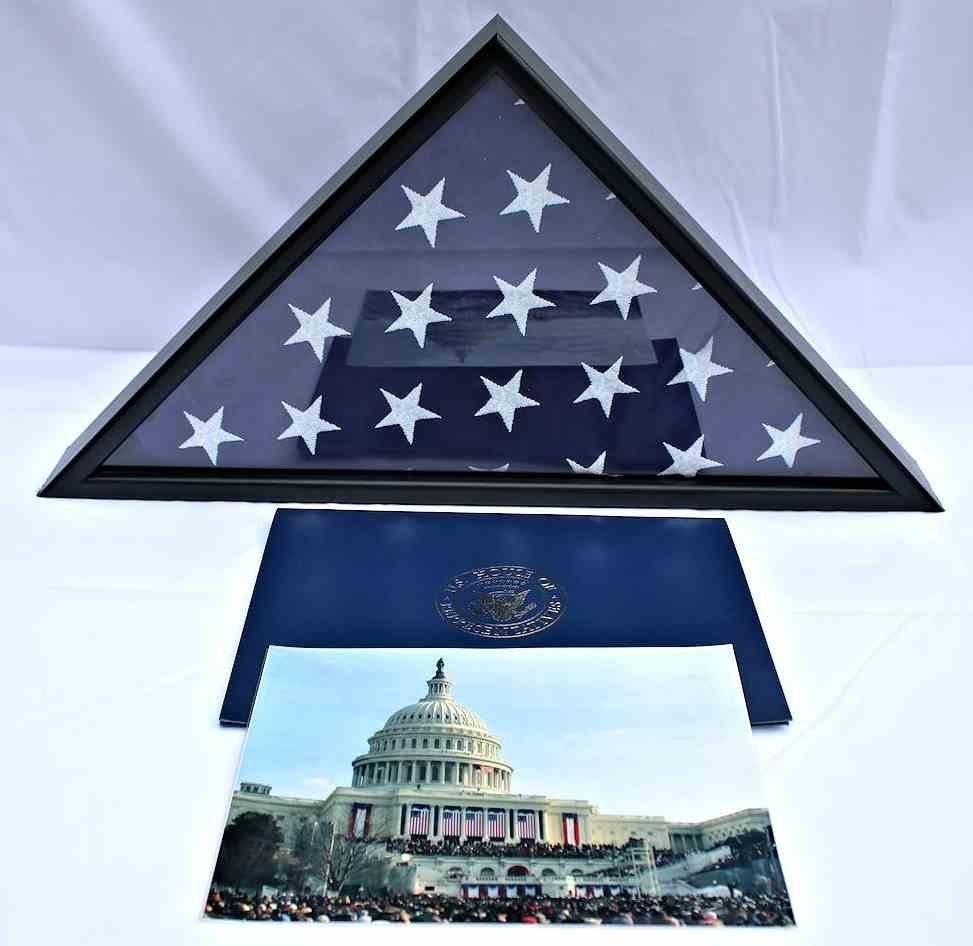 COA President Obama 1st Inauguration Flag  8x12 - 4