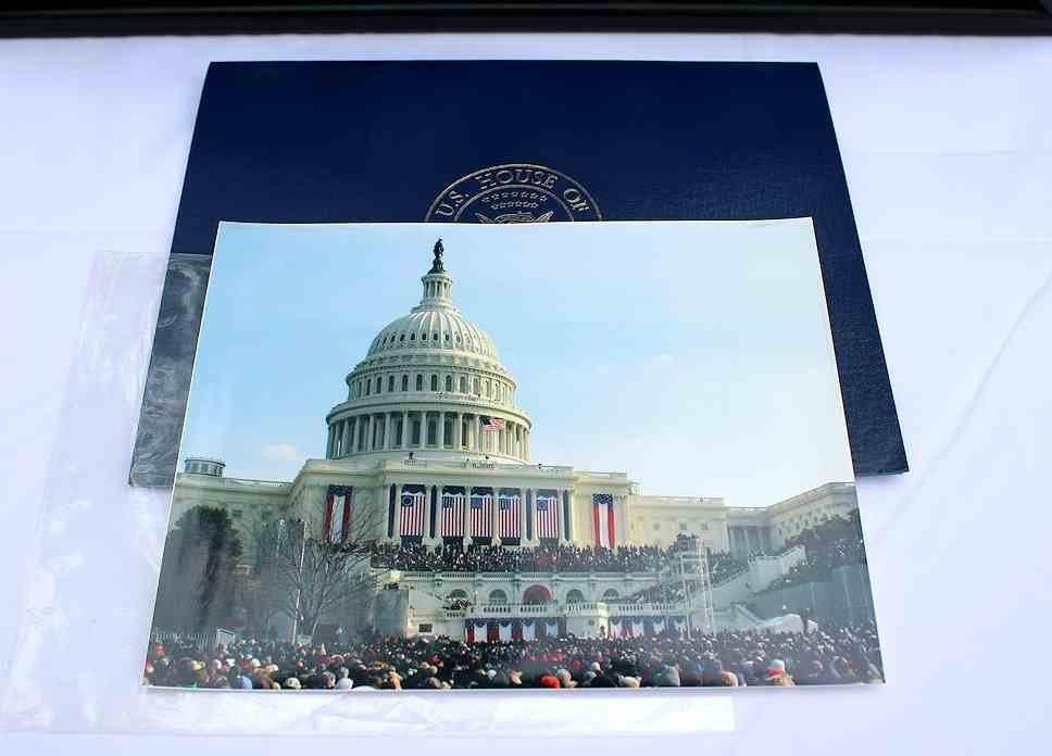 COA President Obama 1st Inauguration Flag  8x12 - 5