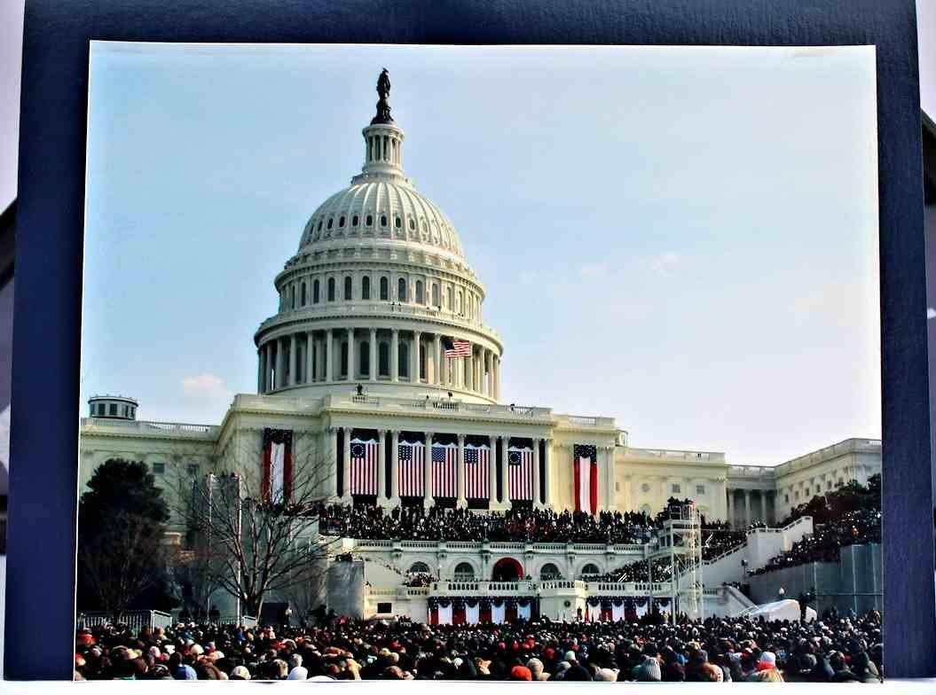 COA President Obama 1st Inauguration Flag  8x12 - 6