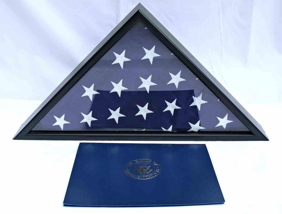 COA President Obama 1st Inauguration Flag  8x12 - 8