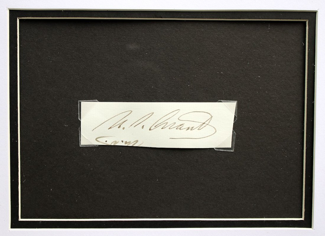 President Ulysses S. Grant Autograph Signature - 3