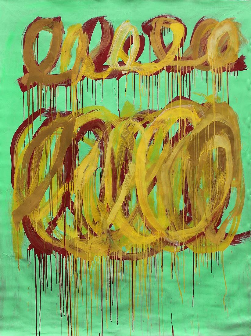 Cy Twombly (1928-2011) Large painting on canvas NR