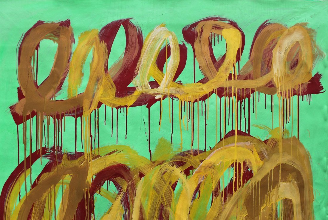 Cy Twombly (1928-2011) Large painting on canvas NR - 2