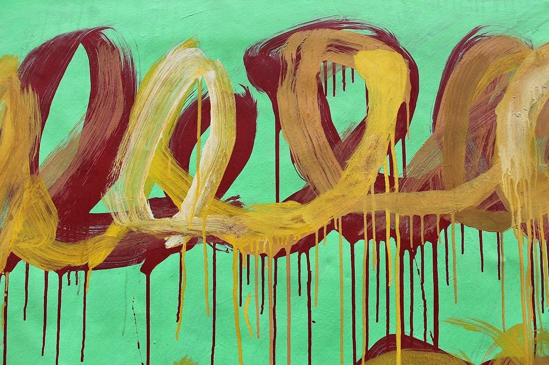 Cy Twombly (1928-2011) Large painting on canvas NR - 4