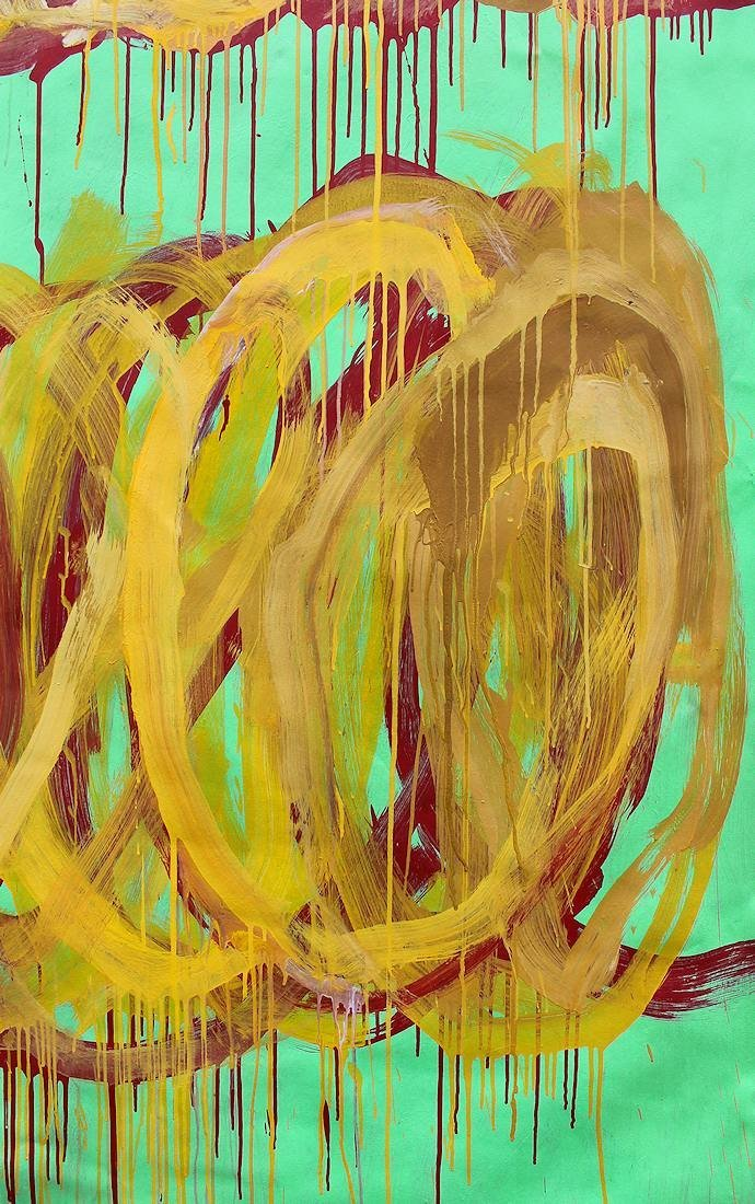 Cy Twombly (1928-2011) Large painting on canvas NR - 5