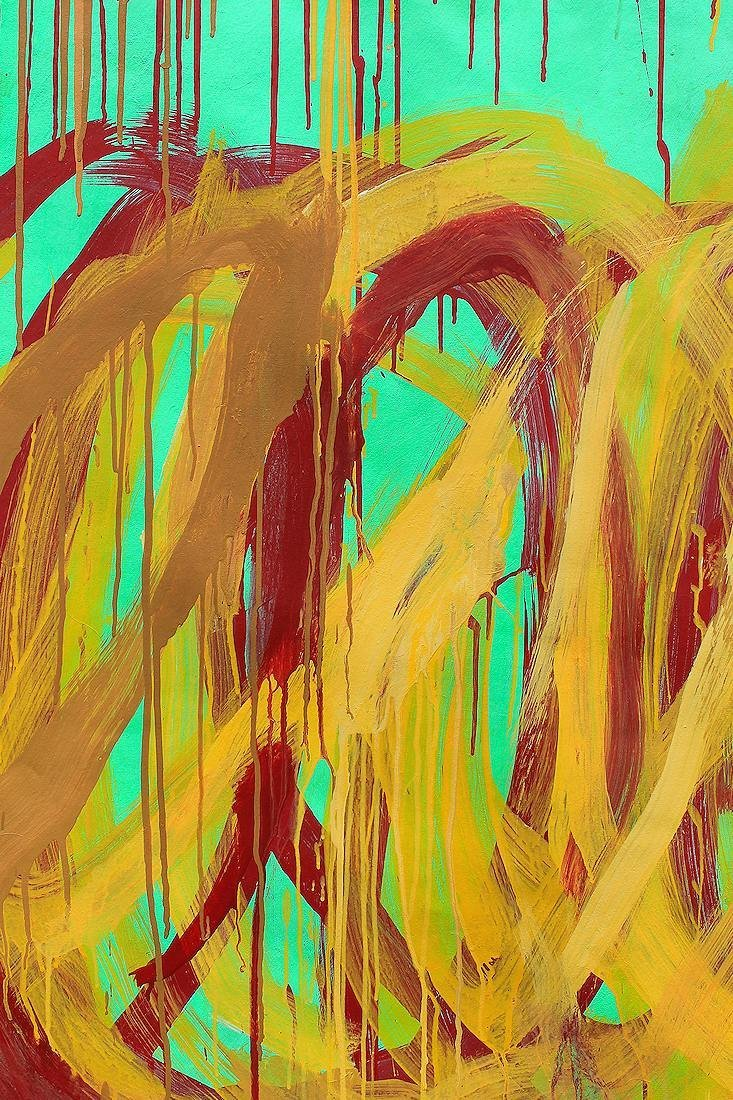 Cy Twombly (1928-2011) Large painting on canvas NR - 6
