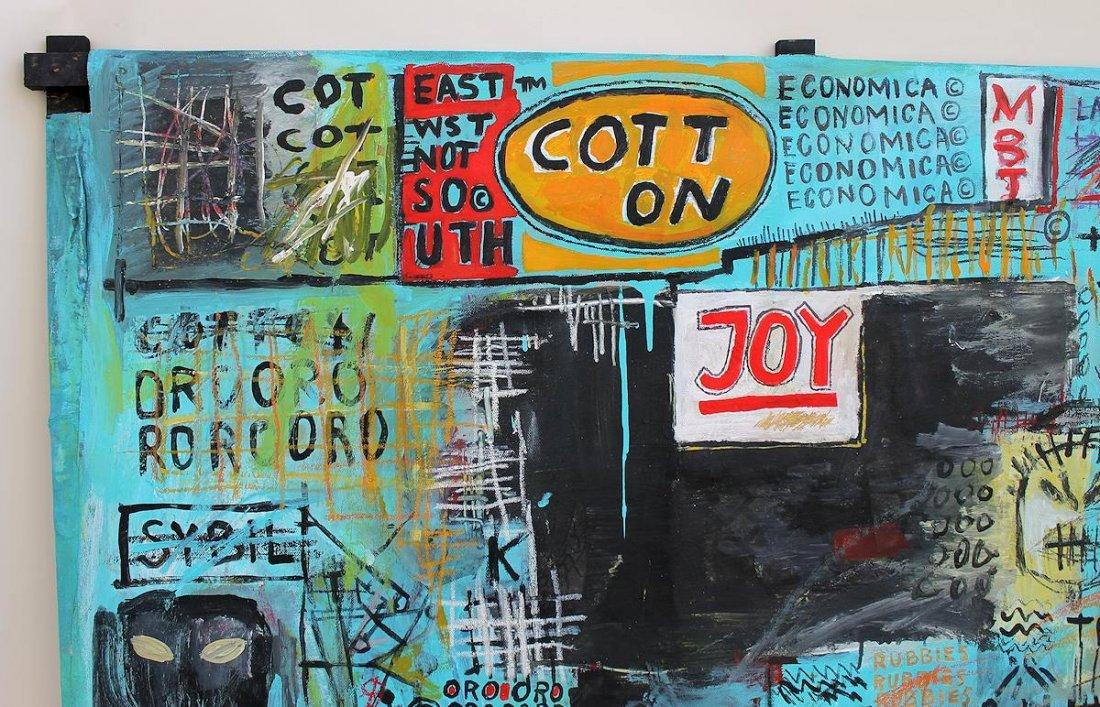 Jean Michel Basquiat(1960-1988) Painting on canvas - 2