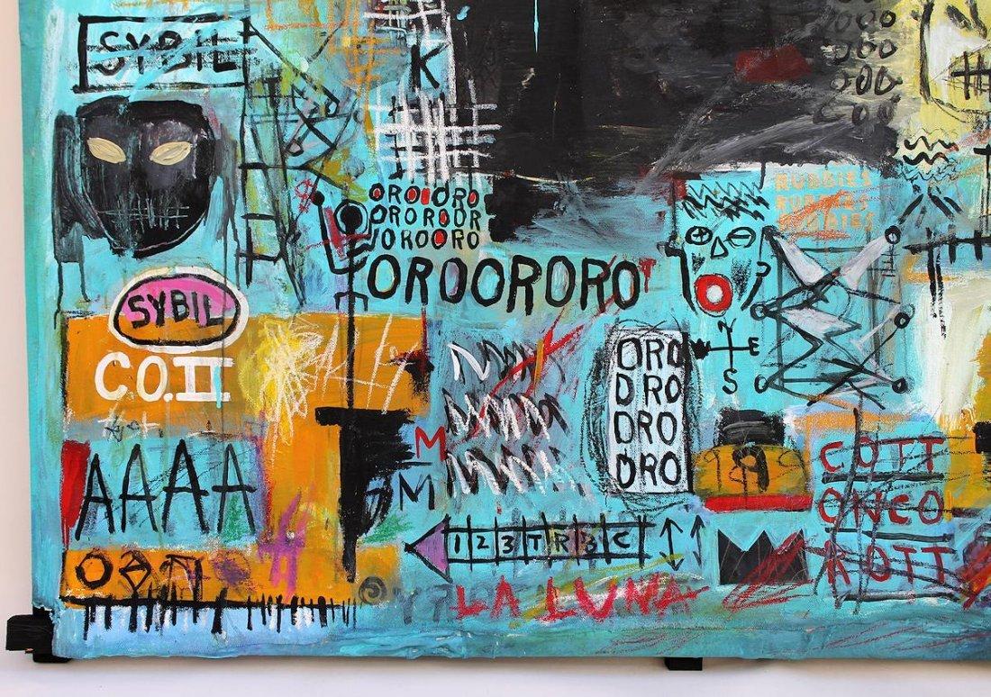 Jean Michel Basquiat(1960-1988) Painting on canvas - 4
