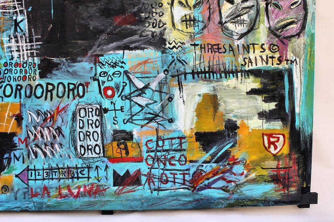 Jean Michel Basquiat(1960-1988) Painting on canvas - 5