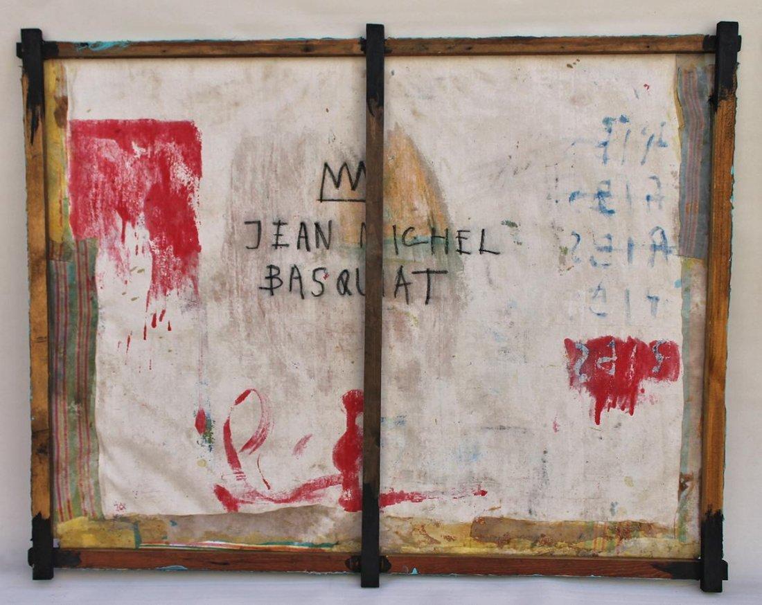 Jean Michel Basquiat(1960-1988) Painting on canvas - 6