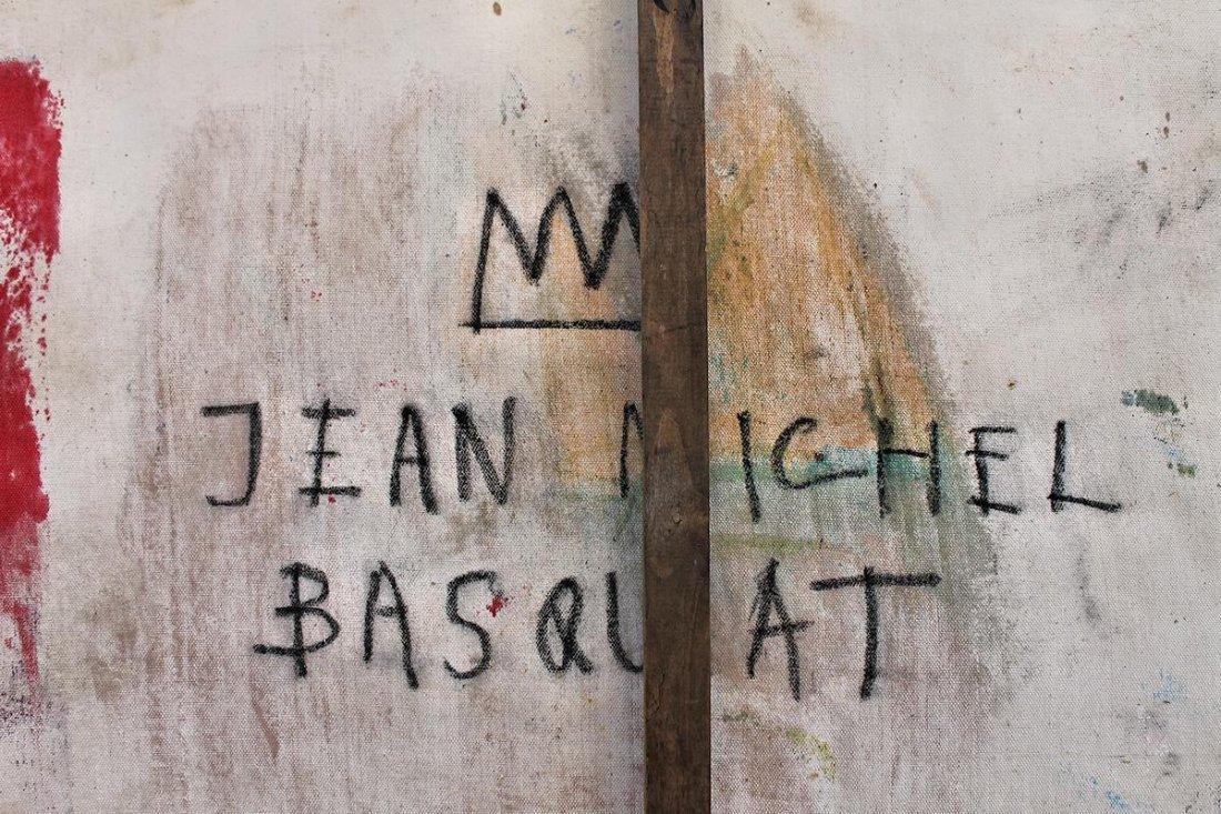 Jean Michel Basquiat(1960-1988) Painting on canvas - 7