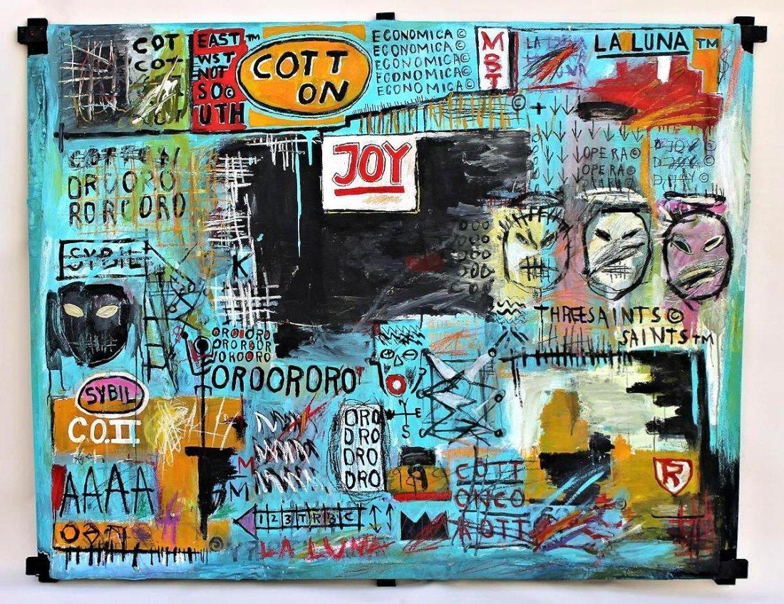 Jean Michel Basquiat(1960-1988) Painting on canvas - 8