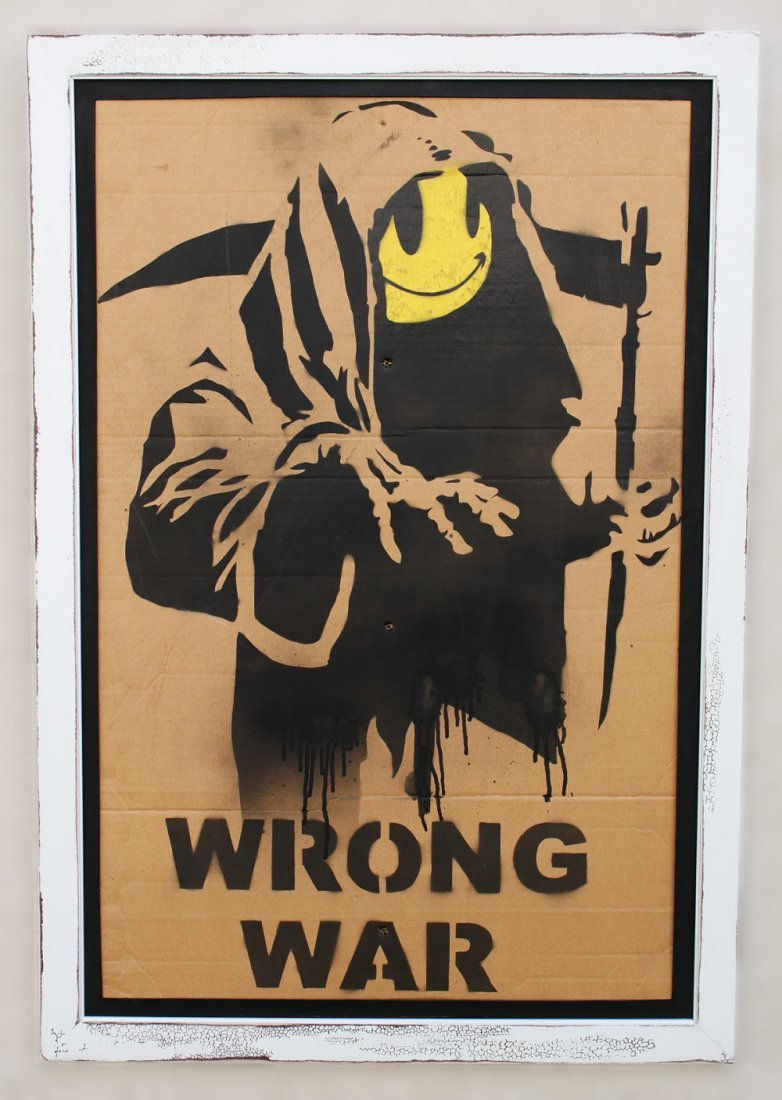 Original Banksy Graffiti Assoc. Warhol Basquiat Haring