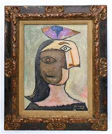 PABLO PICASSO 1881-1973 / PAINTING DRAWING ON BOARD