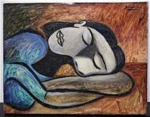 PABLO PICASSO 1881-1973 / CANVAS PAINTING