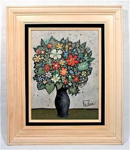 HENRY LAWRENCE FAULKNER / FLOWERS PAINTING STILL LIFE