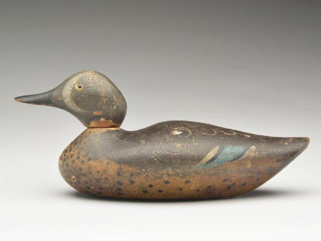 Very early blue wing teal drake, Mason Decoy Factory,