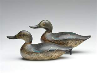 Rigmate pair of blue wing teal, Mason Decoy Factory,