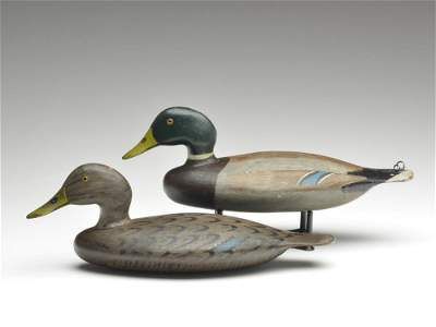 Outstanding and important rigmate pair of mallards,