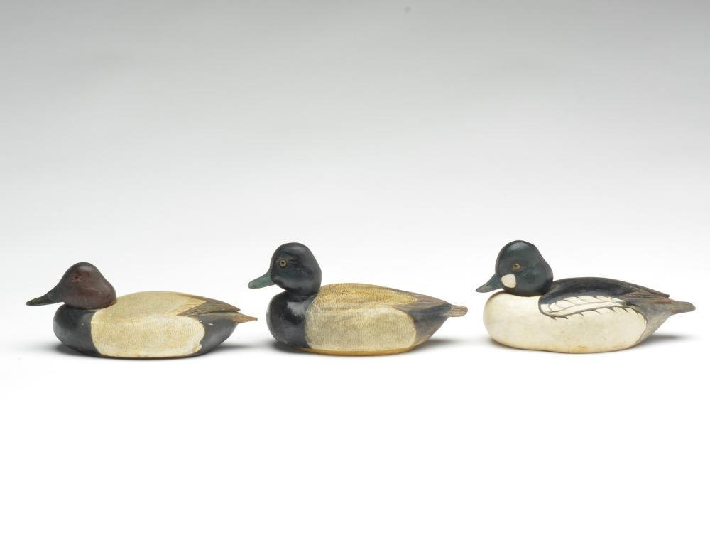 Three 1/4 size decoys, Tom Schroeder, Detroit,